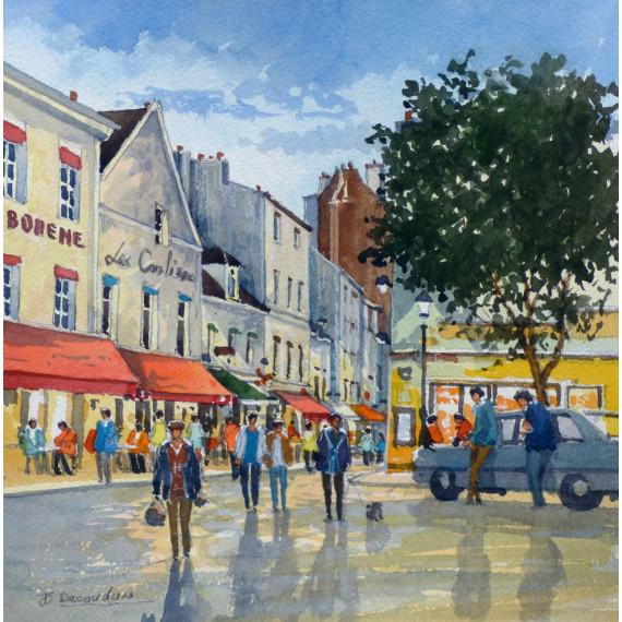 Les Coulisses, Place Jean-Marais à Montmartre, Paris