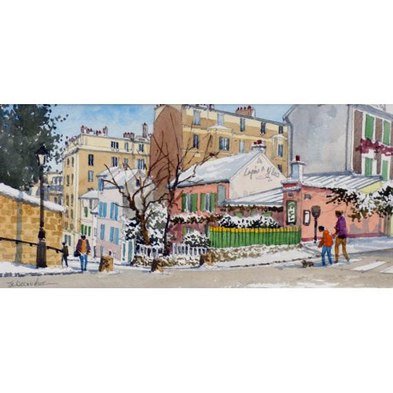 Le cabaret du Lapin Agile à Montmartre, Paris