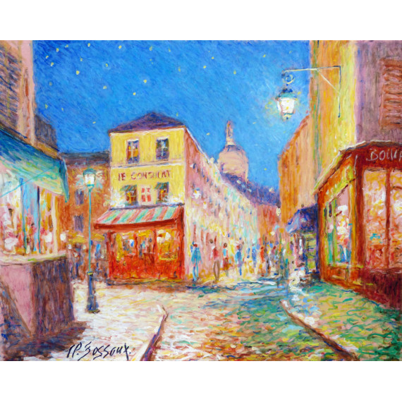 Nuit étoilée à Montmartre