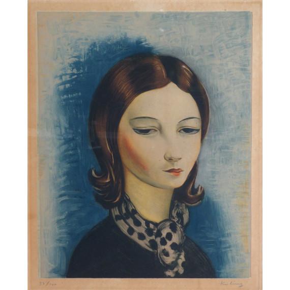 Jeune femme au foulard