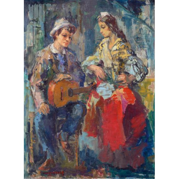 Gypsy et Guitariste - Remblas à Barcelone