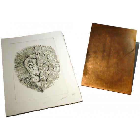 Gravure Lion Mechanimal
