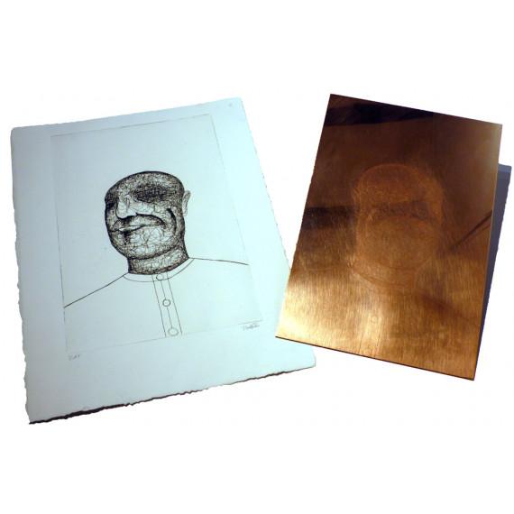 Gravure et Plaque Le visage par Matt_tieu