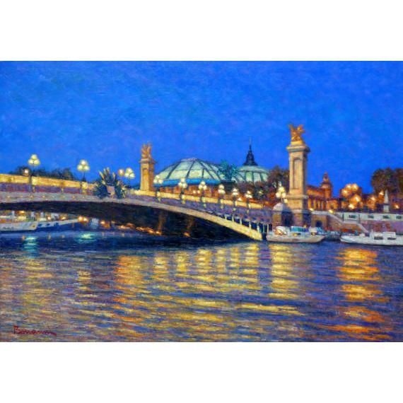 Le Pont Alexandre III et le Grand Palais, Paris la Nuit