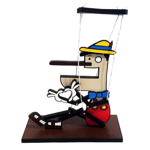 Pinocchio-Duduss, la première sculpture de Toctoc