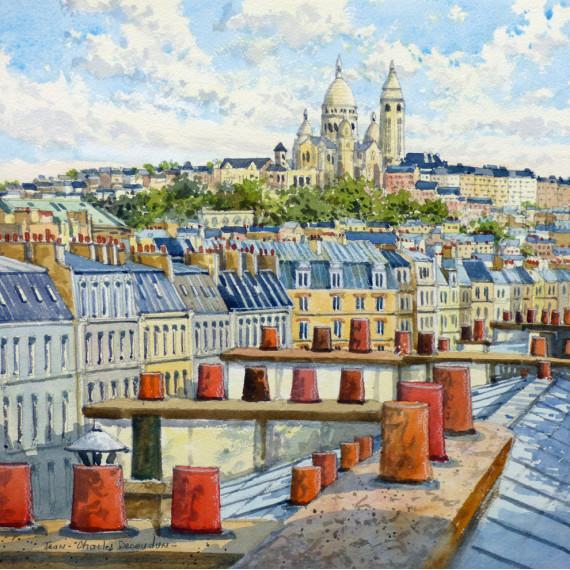 Panorama of the Sacré-Coeur in Paris