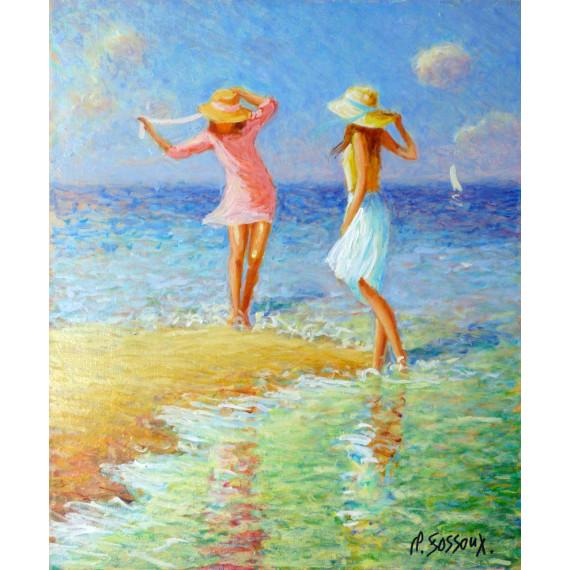 Les deux jeunes filles au bord de l'eau