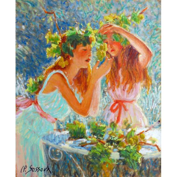 Les deux jeunes filles and the grapes