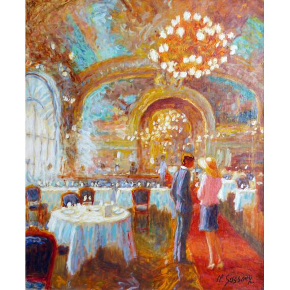 Intérieur du restaurant Le Train Bleu Gare du Nord à Paris
