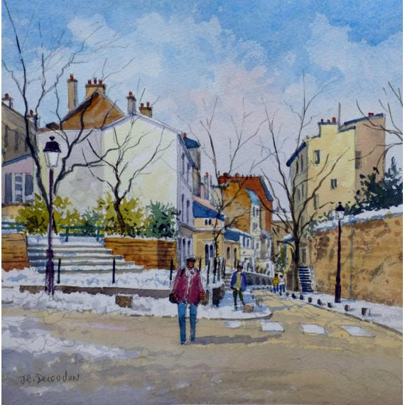 Rue Saint-Vincent et Rue des Saules à Montmartre
