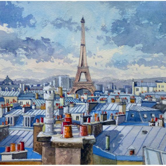 Les toits de Paris, La Tour Eiffel