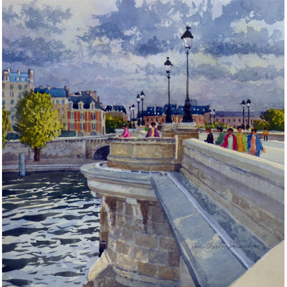 The bridge over the Seine