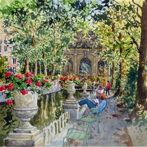 The Parc Monceau in Paris