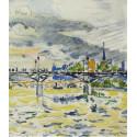 Le Pont des Arts, 1928  (d'après Signac)