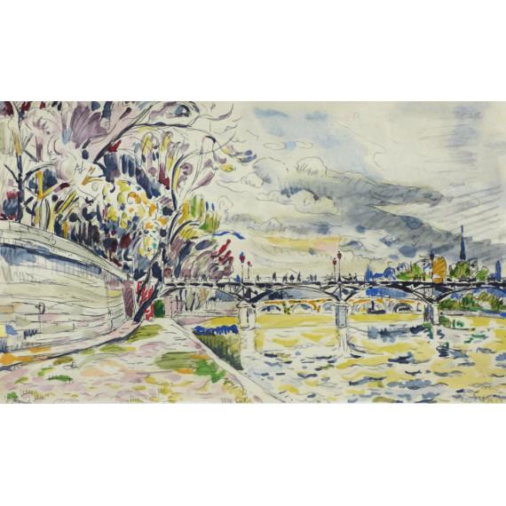 Le Pont des Arts, 1928  (after Signac)