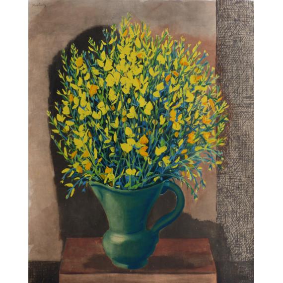 Le vase de fleurs (d'après Kisling)