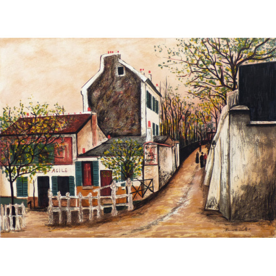 Montmartre, the cabaret of the Lapin Agile and Saint-Vincent street