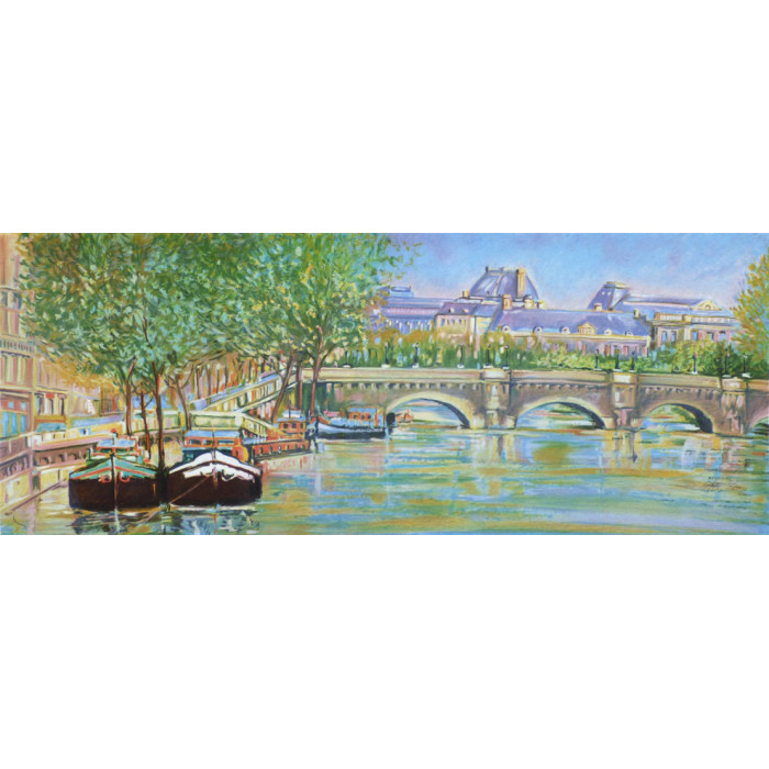 Paris, the bridge over the Seine