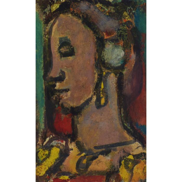 Portrait (after Georges Rouault)
