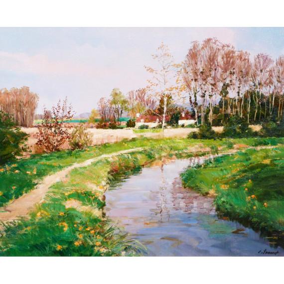 Campagne en île de France, la rivière du Matz