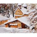 L'église de Megève sous la neige