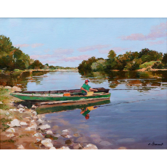 The fisherman on the Loire river