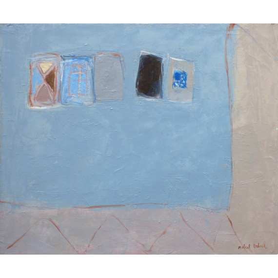 Cinq boites sur fond gris, 1982