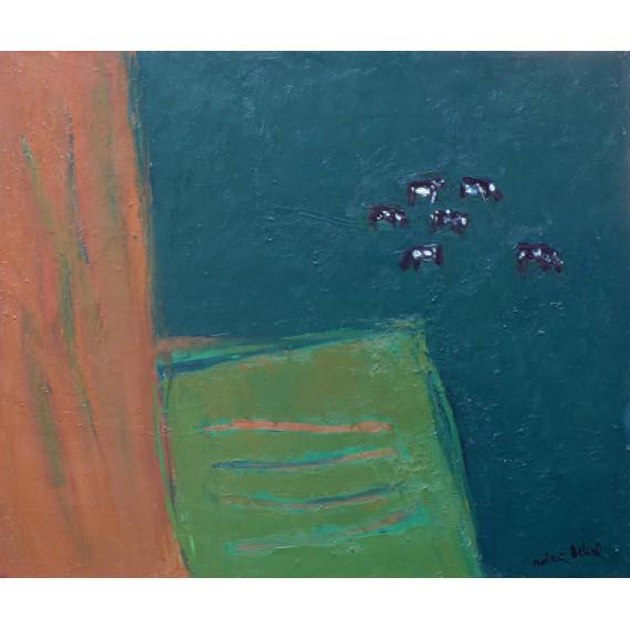 Les vaches sur vert foncé, 1980