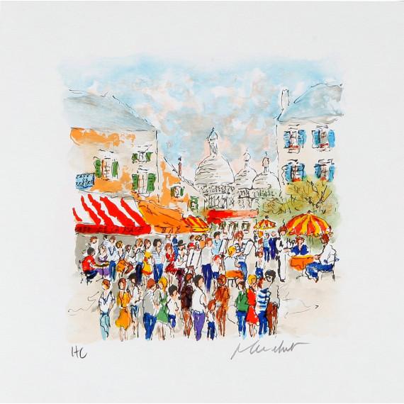 Urbain Huchet - The Place du Tertre in Montmartre