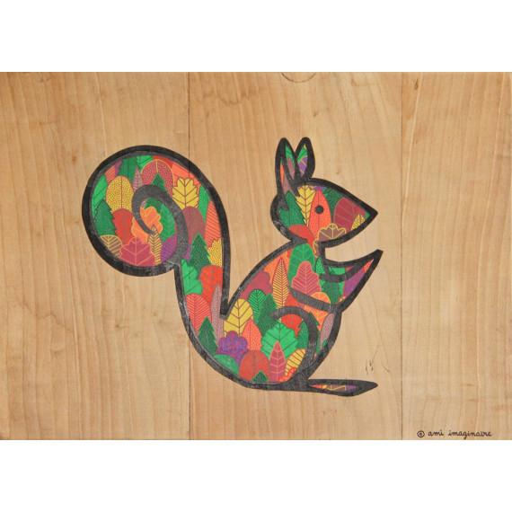 Ecureuil forêt d'automne