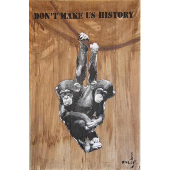 Chimpanzés-street-art-peinture-acrylique-polar-bear