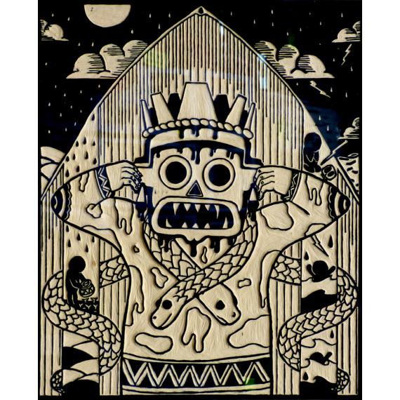 Rastoni & Ninin - Tlaloc - Original plate ( unique artwork )