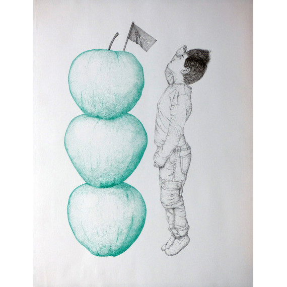 Drawing -  Little person ( Large as three apples )