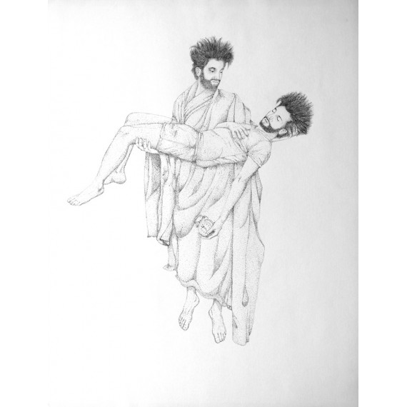 Drawing -  Being in the arms of morphée