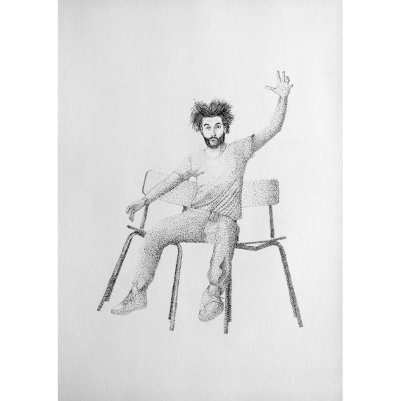 Drawing - Have your * between two chairs