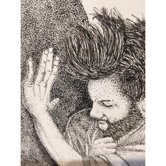 Drawing - Push the rock of Sisyphus