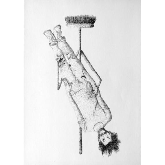 Drawing - Stupid as a broom