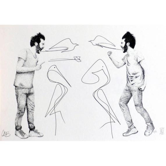 Sérigraphie - Se jeter des noms d'oiseaux avec LoiseauCraie