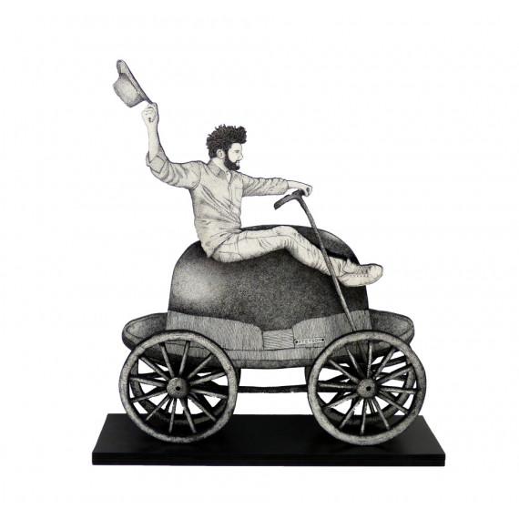 Sculpture - Sur les chapeaux de roue