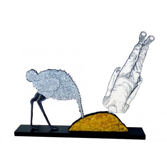 Sculpture - Faire l'Autruche avec MATT_TIEU