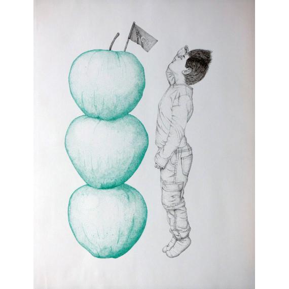Sérigraphie - Haut comme trois pommes