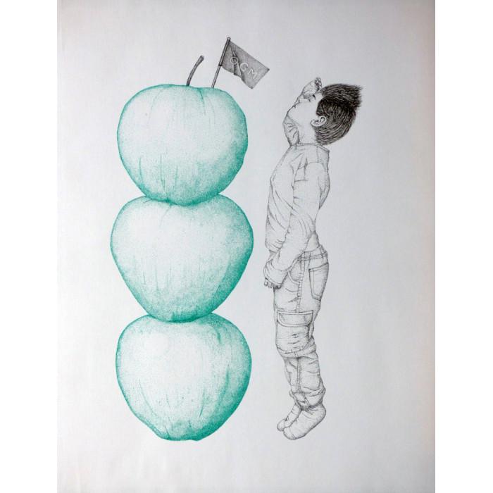 Serigraph - Haut comme trois pommes