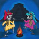 Peinture -  La danza del fuego