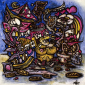 Peinture - Purple boy alive