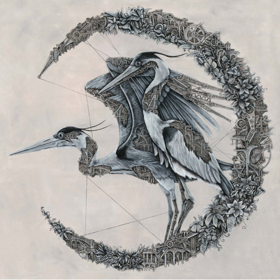 Painting - Herons Mechanimals