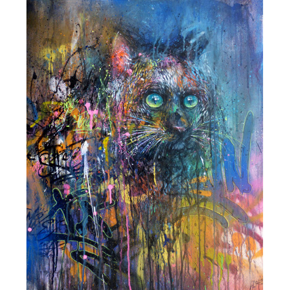 Le Chat sax-henry-blache-painting