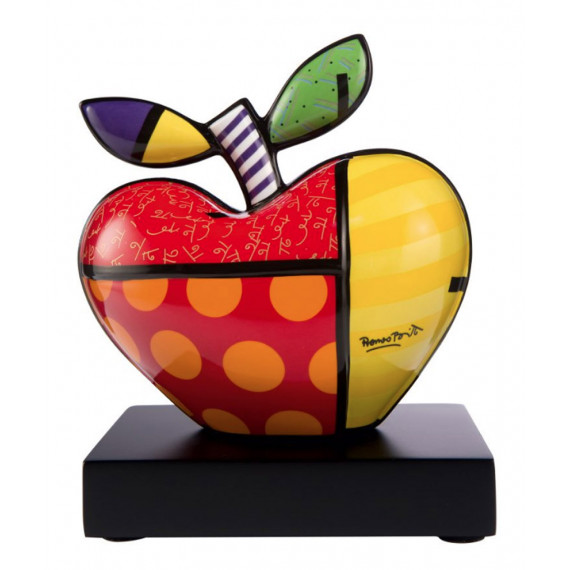 The Apple -sculpture-romero-britto