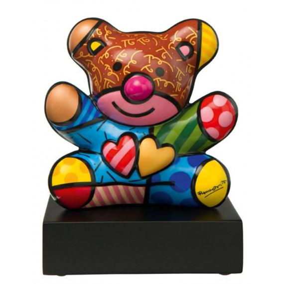 The Brown Bear -sculpture-romero-britto