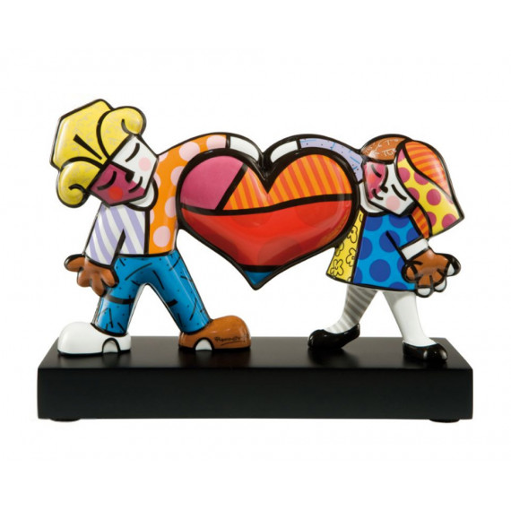 The Lovers -sculpture-romero-britto