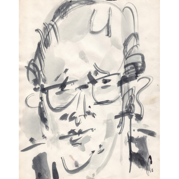 Portrait of a man, Alain Decaux ?